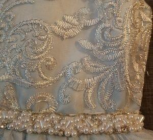 Rare Editions Dresses - RARE EDITIONS FLOWERGIRL DRESS Blue SILVER